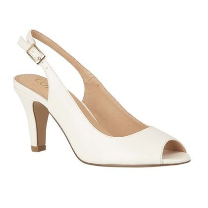 Lotus Slingback Shoes - White - ULS059/66 ZARIA