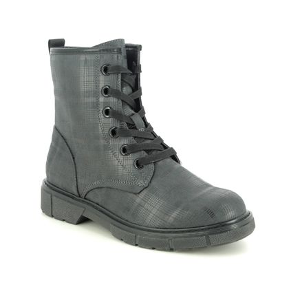 Marco Tozzi Lace Up Boots - Grey - 25283/25/241 BADIE