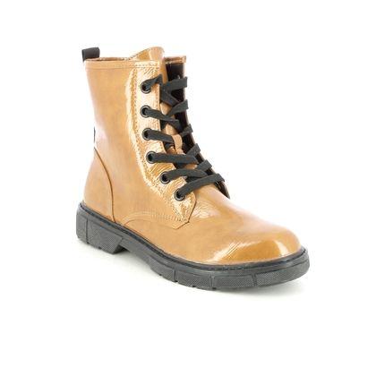 Marco Tozzi Biker Boots - Yellow Patent - 25282/27/675 BADIE  LACE