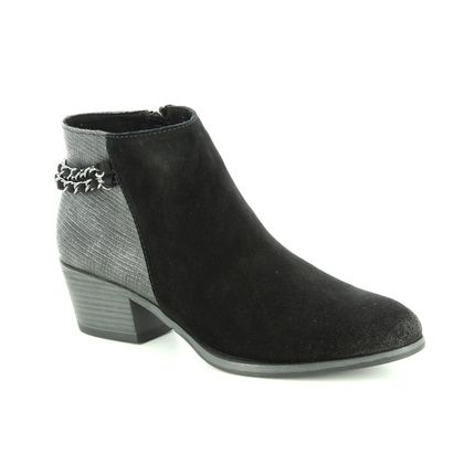 Marco Tozzi Fashion Ankle Boots - Black Suede - 25317/31/096 BADOCHAIN