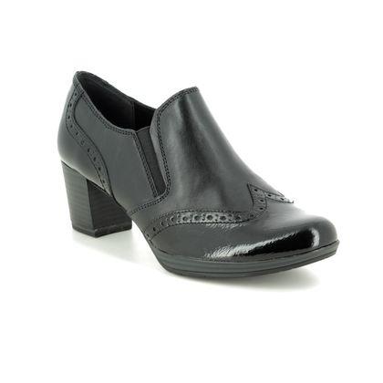 Marco Tozzi Court Shoes - Black leather - 24404/23/096 BARSANTIBRO