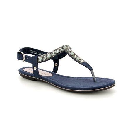 Marco Tozzi Toe Post Sandals - Navy - 28112/20/805 BIVIO 81