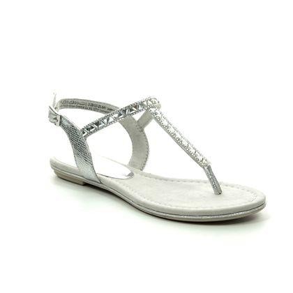 Marco Tozzi Flat Sandals - Silver - 28127/22/941 BIVIOTO
