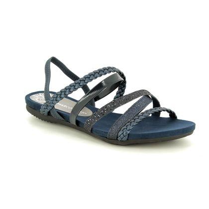 Marco Tozzi Flat Sandals - Navy - 28123/22/824 CALOLAST