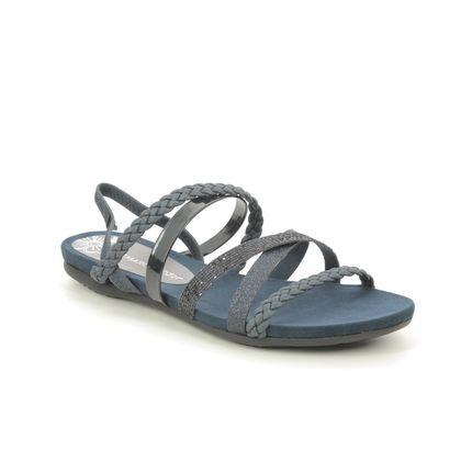 Marco Tozzi Flat Sandals - Navy - 28123/24/844 CALOLAST