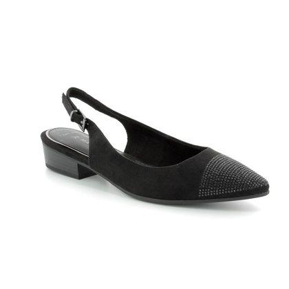 Marco Tozzi Slingback Shoes - Black suede - 29400/20/001 CAPELA