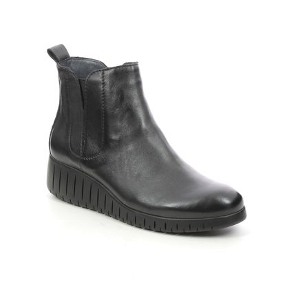 Marco Tozzi Wedge Boots - Black leather - 25442/27/096 CERASO 15