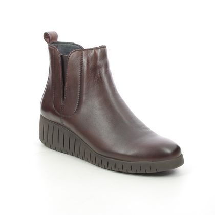 Marco Tozzi Wedge Boots - Brown leather - 25442/27/327 CERASO 15