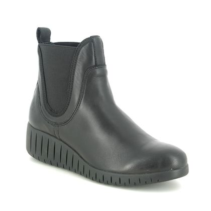 Marco Tozzi Wedge Boots - Black leather - 25442/25/096 CERASO