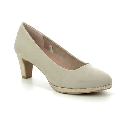 Marco Tozzi Court Shoes - Beige - 22409/34/442 FALDO  01