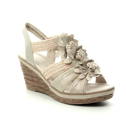 Marco Tozzi Wedge Sandals - Taupe multi - 28302/22/447 FRETO  91