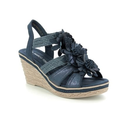Marco Tozzi Wedge Sandals - Navy - 28302/22/844 FRETO  91
