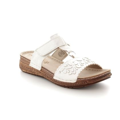 Marco Tozzi Slide Sandals - White - 27505/20/125 FRIDA