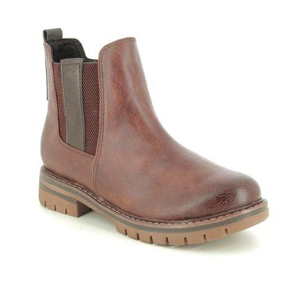 Marco Tozzi Chelsea Boots - Tan - 26425/25/302 GRANDE 05