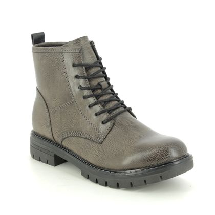 Marco Tozzi Lace Up Boots - Dark Grey - 26266/25/226 GRANDE LACE