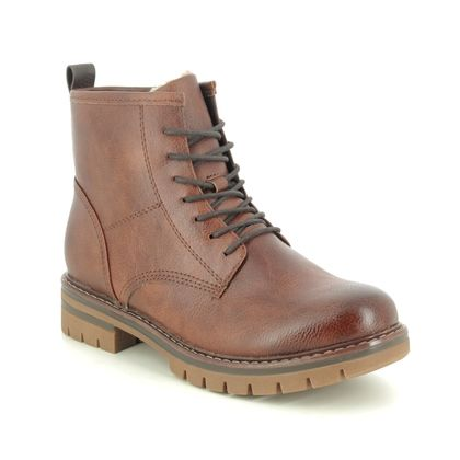 Marco Tozzi Lace Up Boots - Brown - 26266/25/302 GRANDE LACE