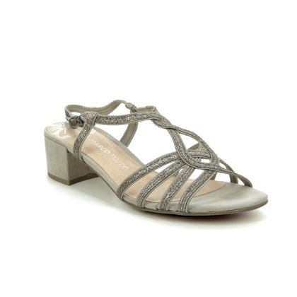 Marco Tozzi Heeled Sandals - Taupe Glitter - 28201/24/344 HECHO SPARK