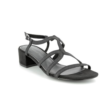 Marco Tozzi Heeled Sandals - Black Glitz - 28201/20/098 HECHO SPARKLE