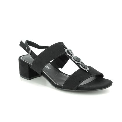 Marco Tozzi Heeled Sandals - Black - 28200/24/001 HECHOGEM