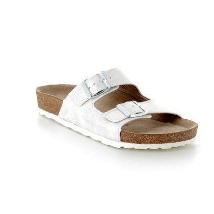 Marco Tozzi Slide Sandals - White - 27401/20/151 JANINE SLIDE