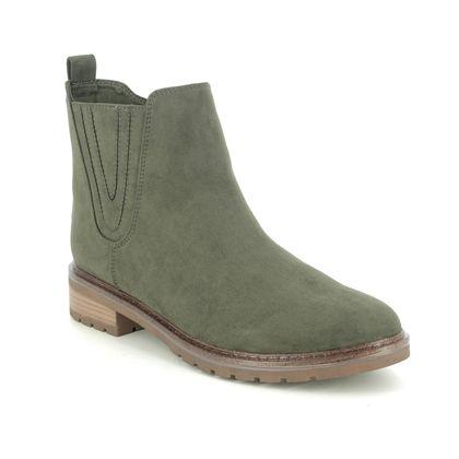 Marco Tozzi Chelsea Boots - Khaki - 25490/25/725 KATU   RAPA