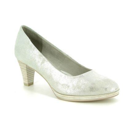 Marco Tozzi Court Shoes - Silver - 22413/32/237 KOBI