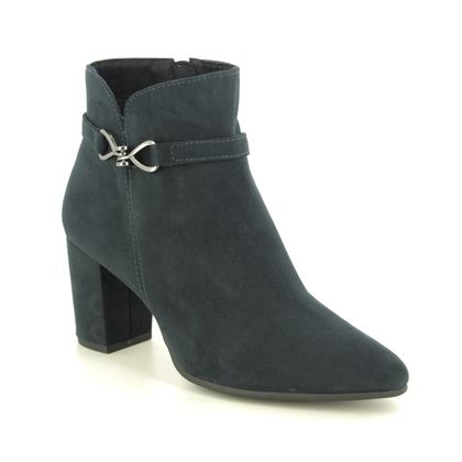 Marco Tozzi Heeled Boots - Navy - 25349/25/840 LODE