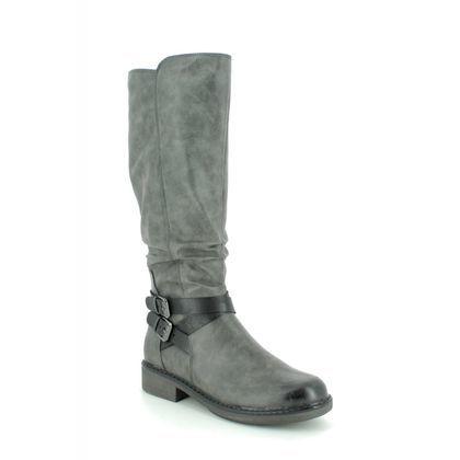 Marco Tozzi Knee High Boots - Dark Grey - 26622/23/207 METO BUCK
