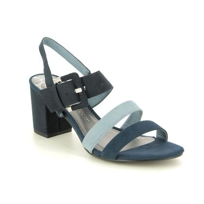 Marco Tozzi Heeled Sandals - Navy - 28323/24/888 PADUCKLE