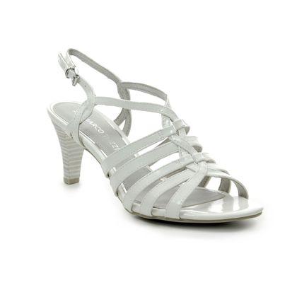 Marco Tozzi Heeled Sandals - White patent - 28321/22/123 PADULI 91