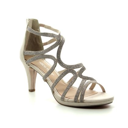 Marco Tozzi Heeled Sandals - Light taupe - 28373/22/435 PADULIA 91