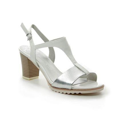 Marco Tozzi Heeled Sandals - White multi - 28732/22/197 PADUYA 91
