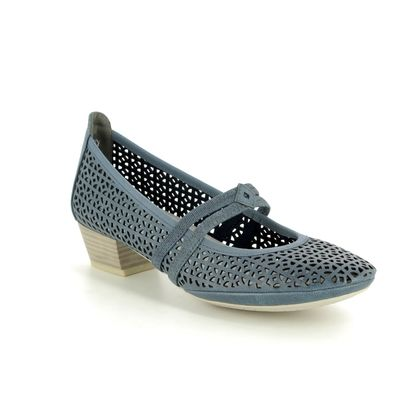 Marco Tozzi Mary Jane Shoes - Navy - 24503/22/803 PAVOBAR 91