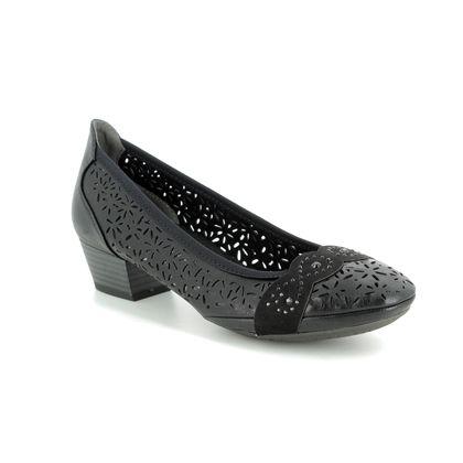 Marco Tozzi Court Shoes - Black - 22505/22/098 PAVOPERF 91