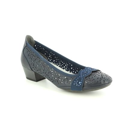 Marco Tozzi Court Shoes - Navy - 22505/22/890 PAVOPERF 91