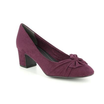 Marco Tozzi Court Shoes - Bordeaux - 22430/21/549 PERIBOW