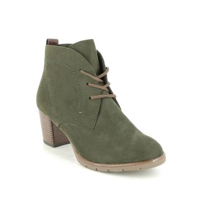 Marco Tozzi Heeled Boots - Olive Green - 25107/27/712 PESALOW