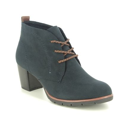 Marco Tozzi Lace Up Boots - Navy - 25107/35/888 PESALOW