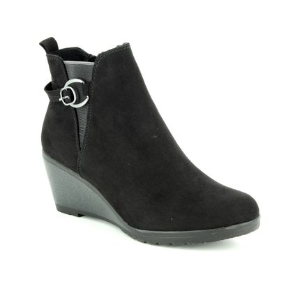 Marco Tozzi Wedge Boots - Black - 25042/21/001 RANCO BUCKLE