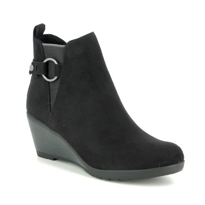 Marco Tozzi Wedge Boots - Black - 25042/23/098 RANCO BUCKLE 95