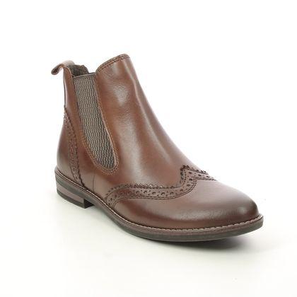 Marco Tozzi Chelsea Boots - Cognac leather - 25365/27/302 RAPABRO