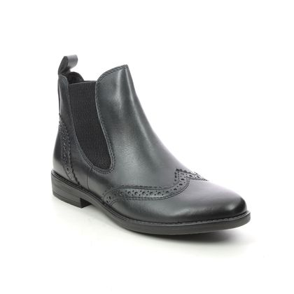 Marco Tozzi Chelsea Boots - Navy Leather - 25365/27/820 RAPABRO