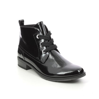 Marco Tozzi Lace Up Boots - Black patent - 25120/27/018 RAPALLACE 05
