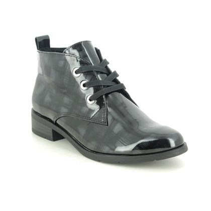 Marco Tozzi Lace Up Boots - Grey patent - 25120/35/274 RAPALLACE 05