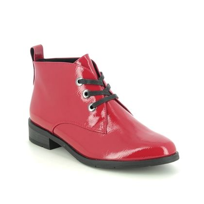 Marco Tozzi Lace Up Boots - Red patent - 25120/35/551 RAPALLACE 05