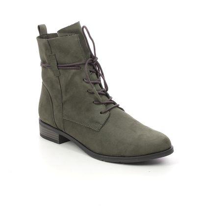 Marco Tozzi Lace Up Boots - Khaki - 25112/35/725 RAPASTRUT