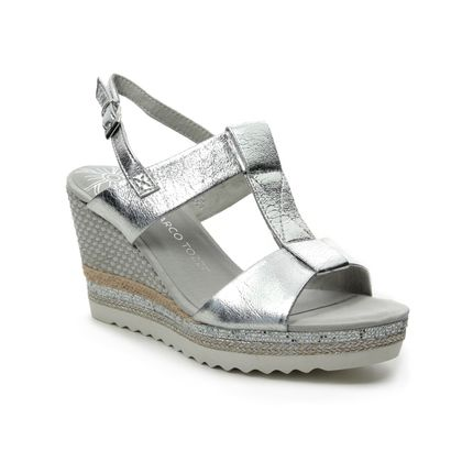 Marco Tozzi Wedge Sandals - Silver - 28709/22/941 TISSA