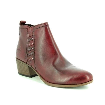 Marco Tozzi Fashion Ankle Boots - Wine leather - 25320/31/507 TRANWEAVE