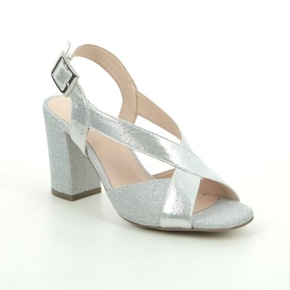 Menbur Heeled Sandals - Silver - 21419/09 ANGELI