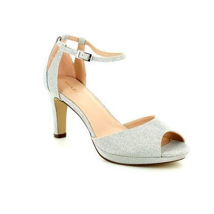 Menbur Heeled Sandals - Silver - 09491/09 BOSCO